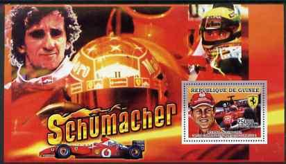 GUINEA GUINEE SHEET MNH F1 CARS RACING FORMULA 1 SCHUMACHER