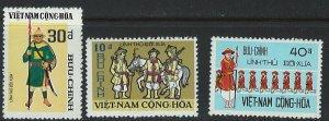 Viet Nam Scott 433-435 MNH!