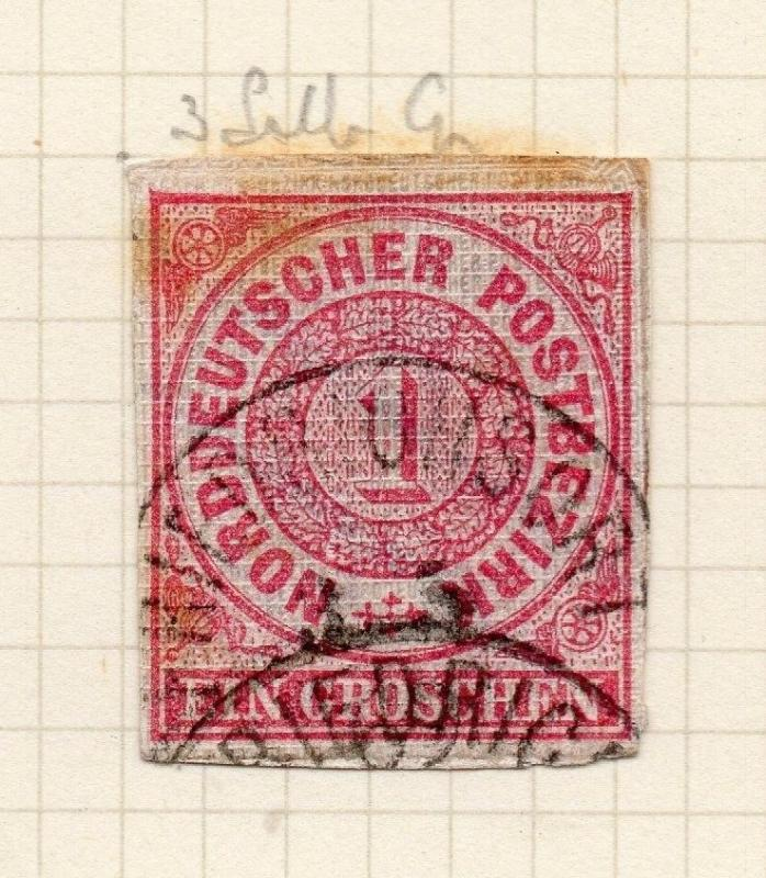 Germany Northern States 1860s Postal St. Piece Fine Used 1g. 287802