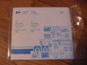 Sealed Canada Post Pack of January to June 1979