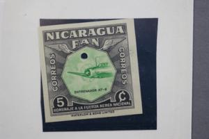 Nicaragua Imperforate Proof 1954 #759