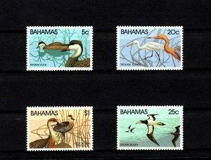 BAHAMAS - 1981 - BIRDS - DUCKS - REDDISH EGRET - TREE DUCKS + MINT - MLH SET!