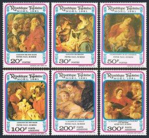 Togo 1125-C459,C459a,MNH.Michel 1565-1570,Bl.184. Christmas 1981.Peter Rubens.