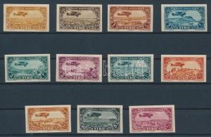 Syria stamp Airmail imperforate set MNH Imperforated 1931 Mi 356-366 WS233450