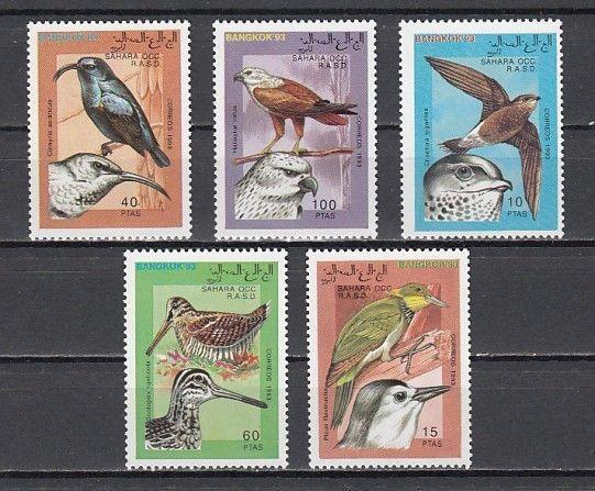 Sahara, 1993 Cinderella issue. Various Birds issue. ^
