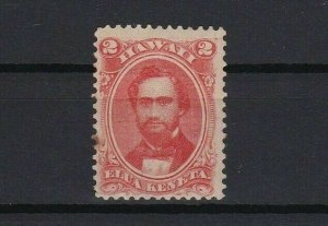 hawaii 1864 2 cent red mounted mint stamp r13055
