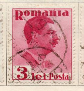 Romania 1934-35 Early Issue Fine Used 3L. 272216