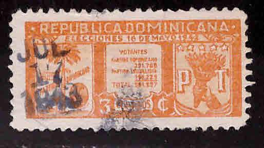 Dominican Republic Scott 393 used stamp