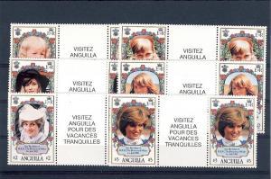 Anguilla, 485-90, Princess Diana - 21st Birthday G/P **MNH**