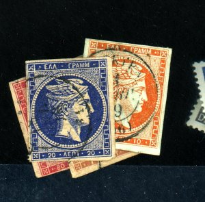 GREECE #6 8 12-13 USED F-VF TEAR CREASE OR THIN Cat $758