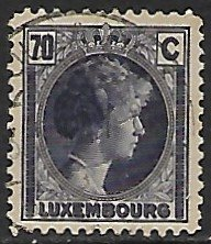 Luxembourg # 173 - Grand Duchesse Charlotte - 70ct - used...(KlGr)