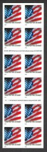 U.S. #3548Be UNITED WE STANF FLAG  BOOKLET PANE MINT, NH AT FACE VALUE!
