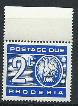 Rhodesia SG D19  MUH   Postage Due Margin Copy