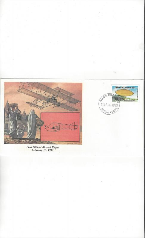 Sierra Leone.  Fleetwood Cachet of Man's Conquest of the Heavens 1983 FDC