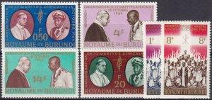 Burundi #95-100 MNH CV $2.55 (Z4631)