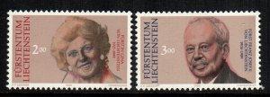 Liechtenstein  928 - 929  MNH cat $ 5.50