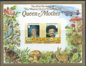 British Virgin Islands #517 Queen Mother S/S (MNH) CV $3.50