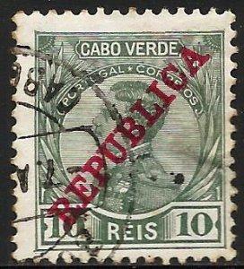 Cape Verde 1912 Scott# 102 Used (right edge tear)