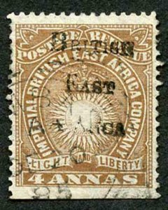 British East Africa SG38 4a yellow-brown Cat 48 pounds