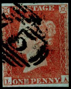 SG8, 1d red-brown, USED. Cat £30. LA