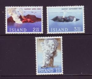 Iceland Sc 372-4 1965 Surtsey Volcanic Island stamps mint NH