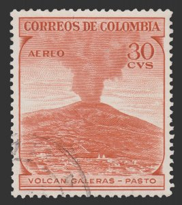 COLOMBIA AIRMAIL STAMP 1954. SCOTT # C244. USED