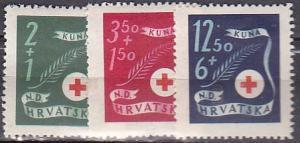 Croatia B70-2b1944 Red Cross Cpl MH