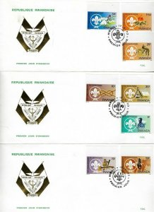 1983 Boy Scouts Rwanda 75th anniversary Imperf FDC