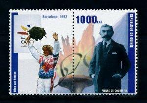 [101529] Guinea 2002 Olympic games Barcelona Athletics De Coubertin  MNH