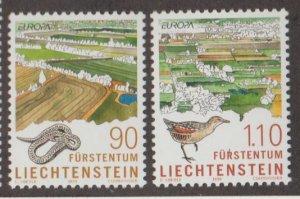 Liechtenstein Scott #1136-1137 Stamps - Mint NH Set