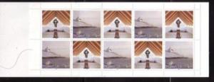 Faore Islands Sc 345a 1998 Frederickschurch stamp booklet mint NH