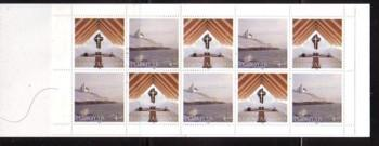 Faore Islands Sc 345a 1998 Frederickschurch stamp booklet mint NH
