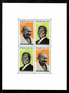 Upper Volta 1968 Mahatma Gandhi of India & Albert Luthuli non Violence MH M/s...