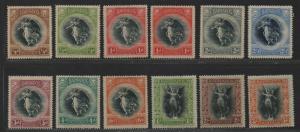 $Barbados Sc#140-151 M/LH/VF, coomplete set, Cv. $183.35