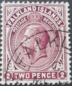 Falkland Islands 1912 GV 2d SG 62 used