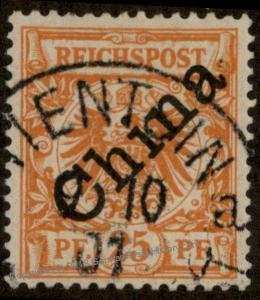 Germany China Krone Adler Mi5I TIENTSIN 1st Issue 48 Deg OP Stamp 89914