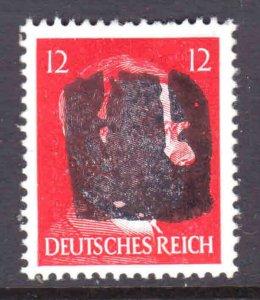 GERMANY 511B 1944 SCHWÄRZUNGEN CHEMNITZ 4 BIII C8 OVPT SIGNED OG NH U/M VF
