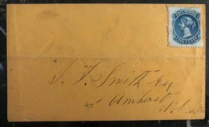 1861 River Philip Nova Scotia Canada Vintage Cover To Amherst