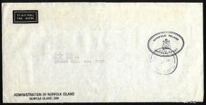 NORFOLK IS 1984 Official mail cover to Australia...........................97421