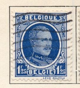 Belgium 1924-27 Early Issue Fine Used 1F.25c. 114377