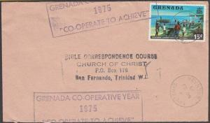 GRENADA 1975 cover scarce CO-OPERARTIVE YEAR handstruck slogan...............144