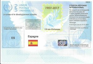 SPAIN - (IRC) INTERNATIONAL REPLY COUPON (110th Year) (MINT), MNH