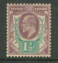 GB EDW VII SG 221   VFU Dull Purple & Green