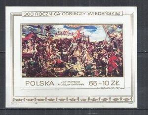 POLAND 1983 - VICTORY ON TURKS BY JAN MATEJKO - MINISHEET - MNH MINT