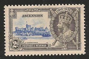 Ascension #34 (SG #32) VF MINT - 1935 2p Silver Jubilee
