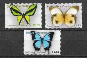 Papua New Guinea MNH Set of Butterflies Insects