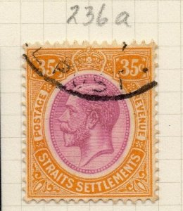 Malaya Straights Settlements 1921 Early Issue Fine Used 35c. 280883