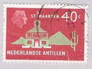 Netherlands Antilles 252 Used Town Hall 1958 (BP32518)