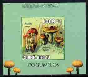 Guinea - Bissau 2010 Mushrooms #1 individual imperf delux...