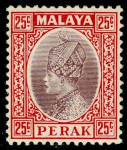 MALAYSIA - Perak SG96, 25c dull purple & scarlet, VLH MINT.